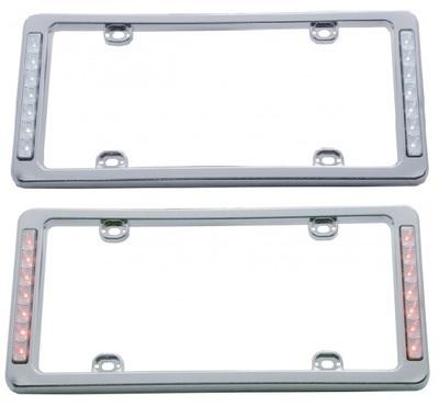 LED Chrome License Plate Frame