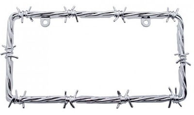 Barbwire License Plate Frame