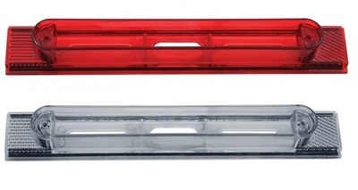 Conspicuity Reflector Plate Light Housing for Mud Flap Hanger in Red or Clear