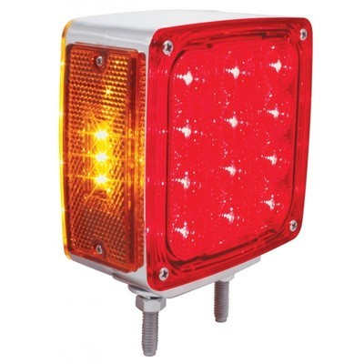 27 LED Double Face Turn Signal - Double Stud with Amber/Red or Clear Lens