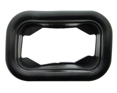 Black Rubber Rectangular Grommet