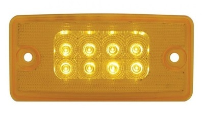 8 LED Reflector Cab Light with Amber or Clear Lens for Freightliner