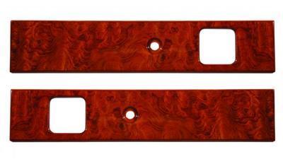 Peterbilt Door Insert Panel-Genuine Rosewood with Chrome Cranks