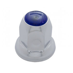 Chrome Metal Lug Nut Cover with Reflector