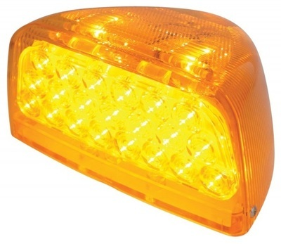 31 Amber LED Front Turn Signal Light for Peterbilt with Amber or Clear Lens and Cover