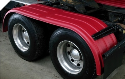 Tandem Axle Set Fender in Different Colors