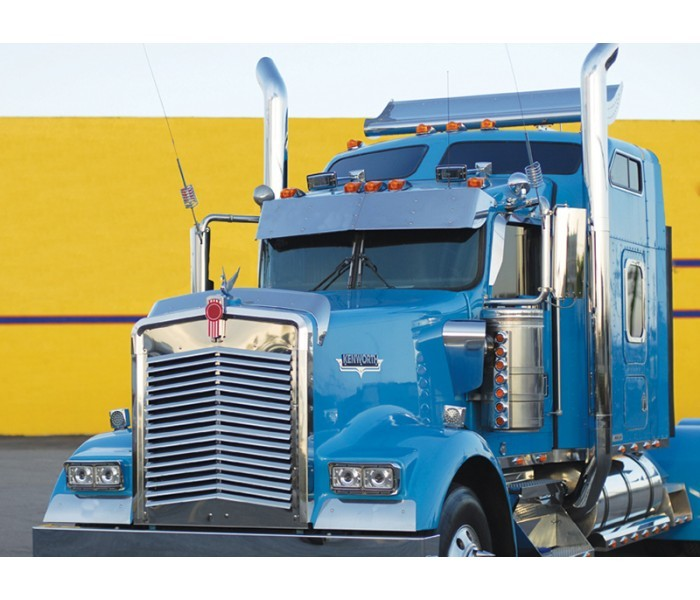 Stainless Steel Bug Deflector for Kenworth W900L