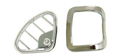 Window Defroster Vent Covers - Chrome Driver and Passenger for Peterbilt