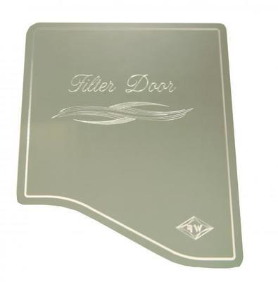 Chrome Dash Trim Engraved A/C Heater Filter Door Cover for Peterbilt