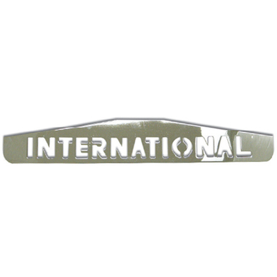 Chrome Bottom Mud Flap Plate with Script for International