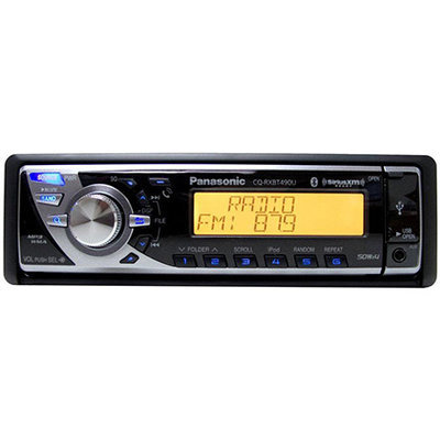 Panasonic AM/FM/MP3/WMA CD Player with Integrated Bluetooth and SXi Satellite Radio