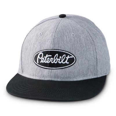 Grey Suiting Flatbill Peterbilt Base Cap