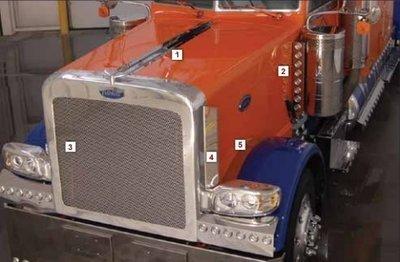 Front Inner Fender Trim for Peterbilt 388 and 389