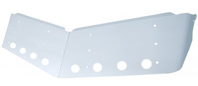 379 Peterbilt 14 Inch Ultra Cab Drop Sunvisor  with 8 x 2 Inch LED Cutouts