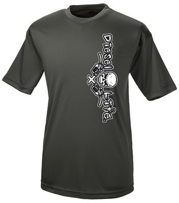 Men's Dri-Fit Short Sleeve with Diesel Life logo - Charcoal/Grey