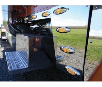 Peterbilt 389 Deluxe Cowl Panels with 8 LED Lights