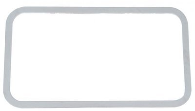 Peterbilt Stainless Steel Rear Sleeper Window Trim