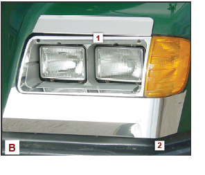 Fender Guards with Side Pair for Freightliner FLD 112/120