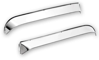 Stainless Steel Ventshades for Peterbilt 330