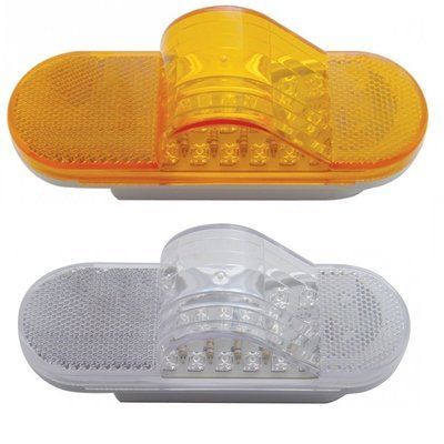 18 LED Mid-Trailer Turn Signal Light with Amber or Clear Lens
