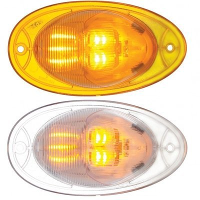 7 LED Turn Signal Light with Amber or Clear Lens for Freightliner Cascadia