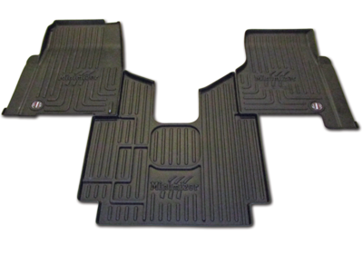 Heavy Duty Floor Mat Kit for Freightliner Cascadia 113; Cascadia 125; Cascadia Evolution 125; Cascadia Evolution 113 (all w/man. trans)