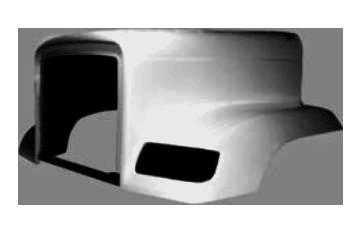 Hood for Freightliner FLD 120 SBA 1988 & Up