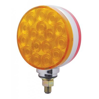 34 LED Reflector Double Face Turn Signal - Single Stud with Amber/Red or Clear Lens