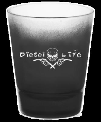 Diesel Life Skull Shot Glass - Black with White Imprint