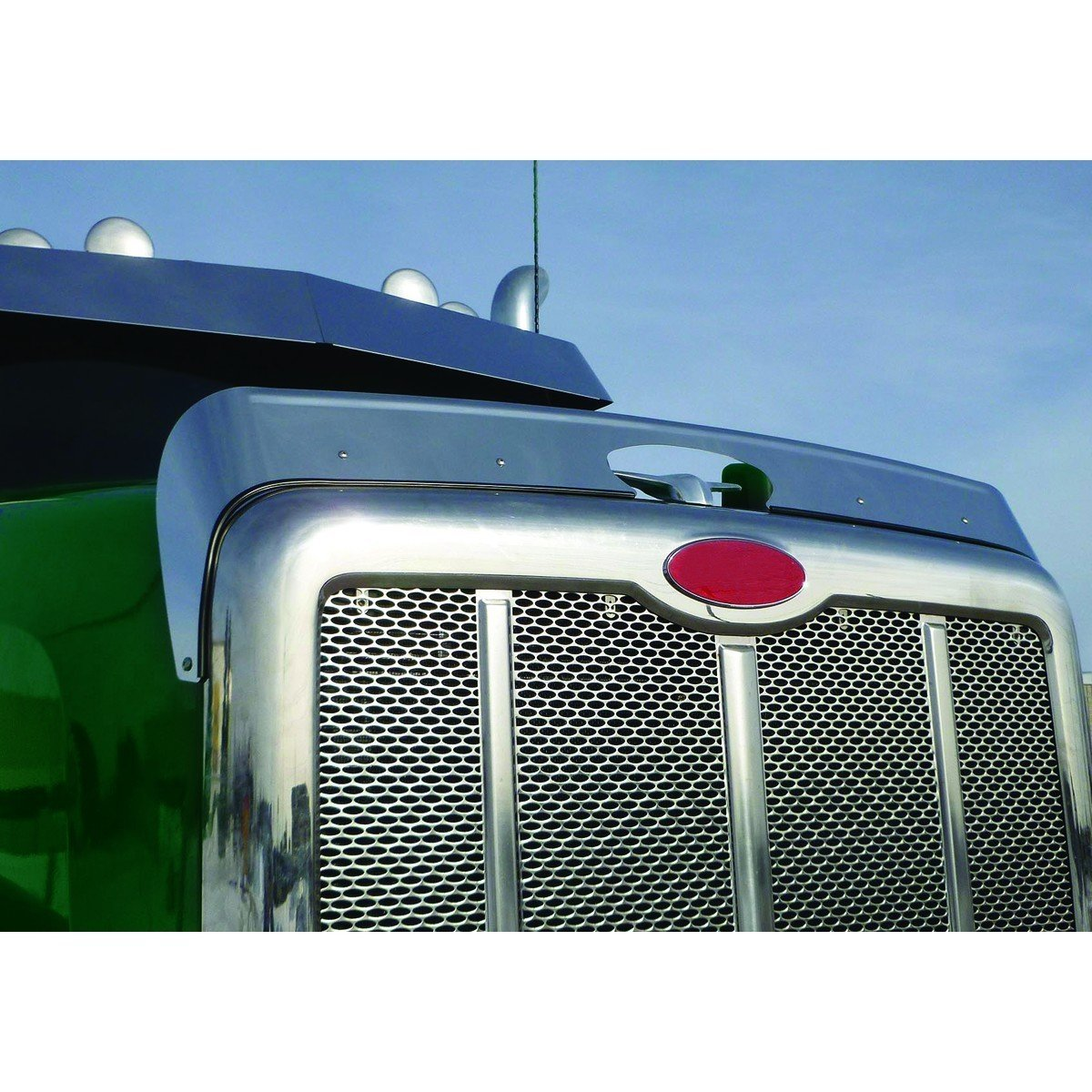 Stainless Steel Bug Deflector for Peterbilt 567