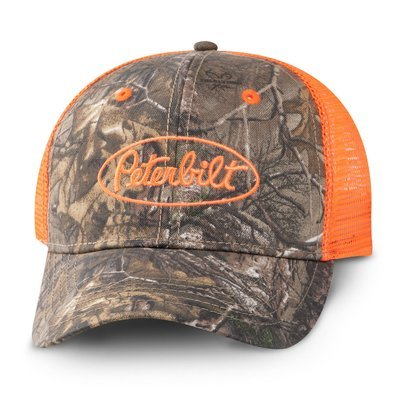 Peterbilt Orange Realtree Camo Hat