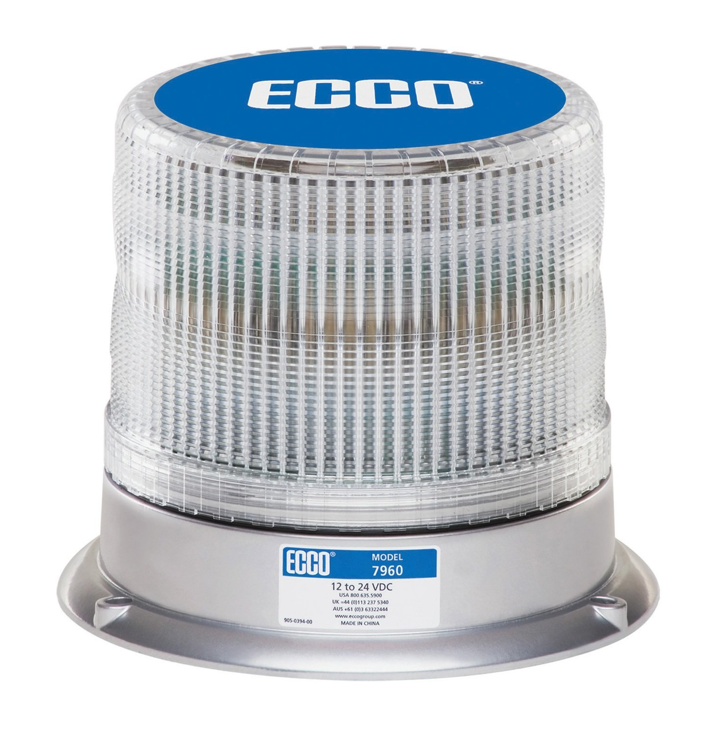 ECCO 7960 Series Pulse® LED Beacon Pipe Mount Amber