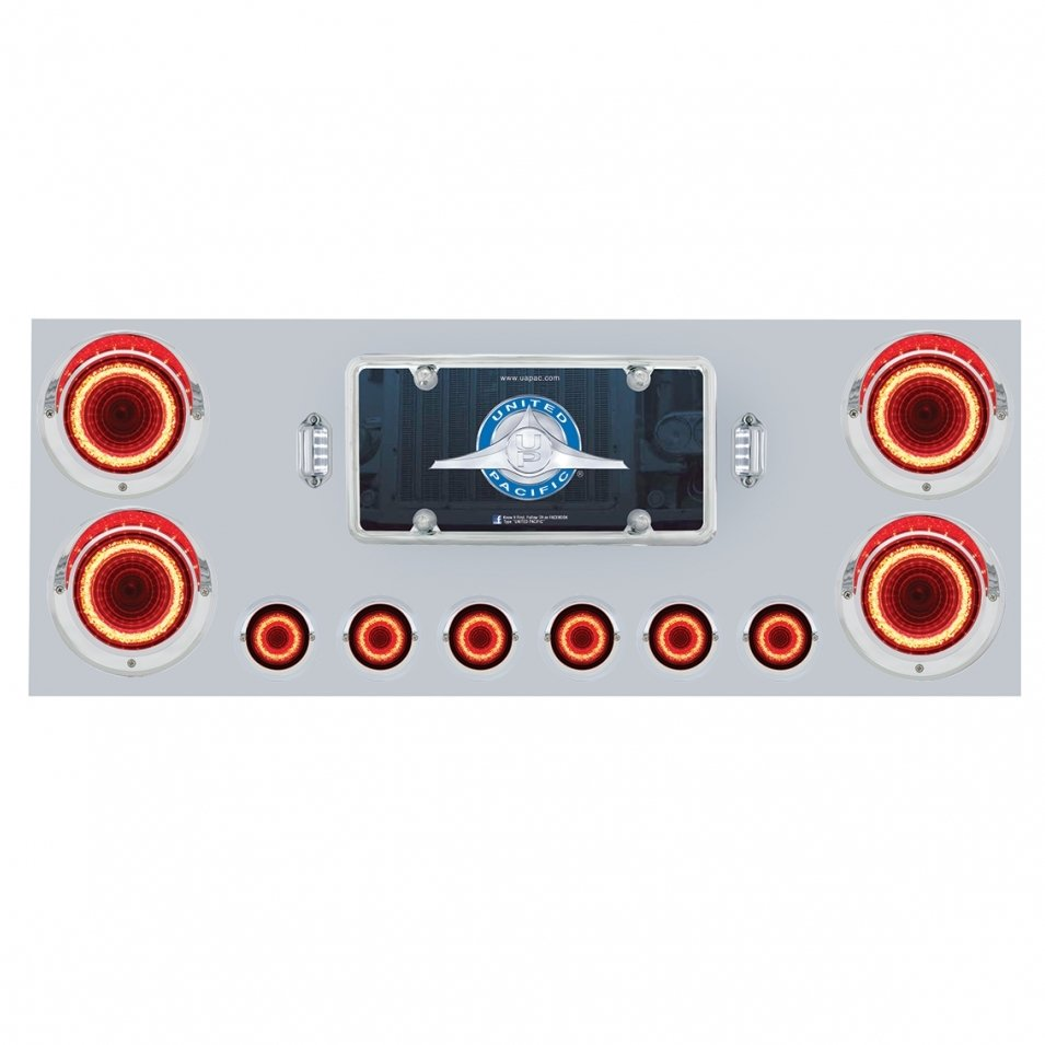 Stainless Steel Rear Center Panel w/ Mirage LED Lights
