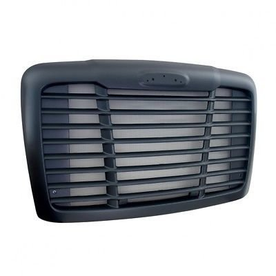 Grille with Bug Screen and Logo Cutout - Black for Freightliner Cascadia 2008+