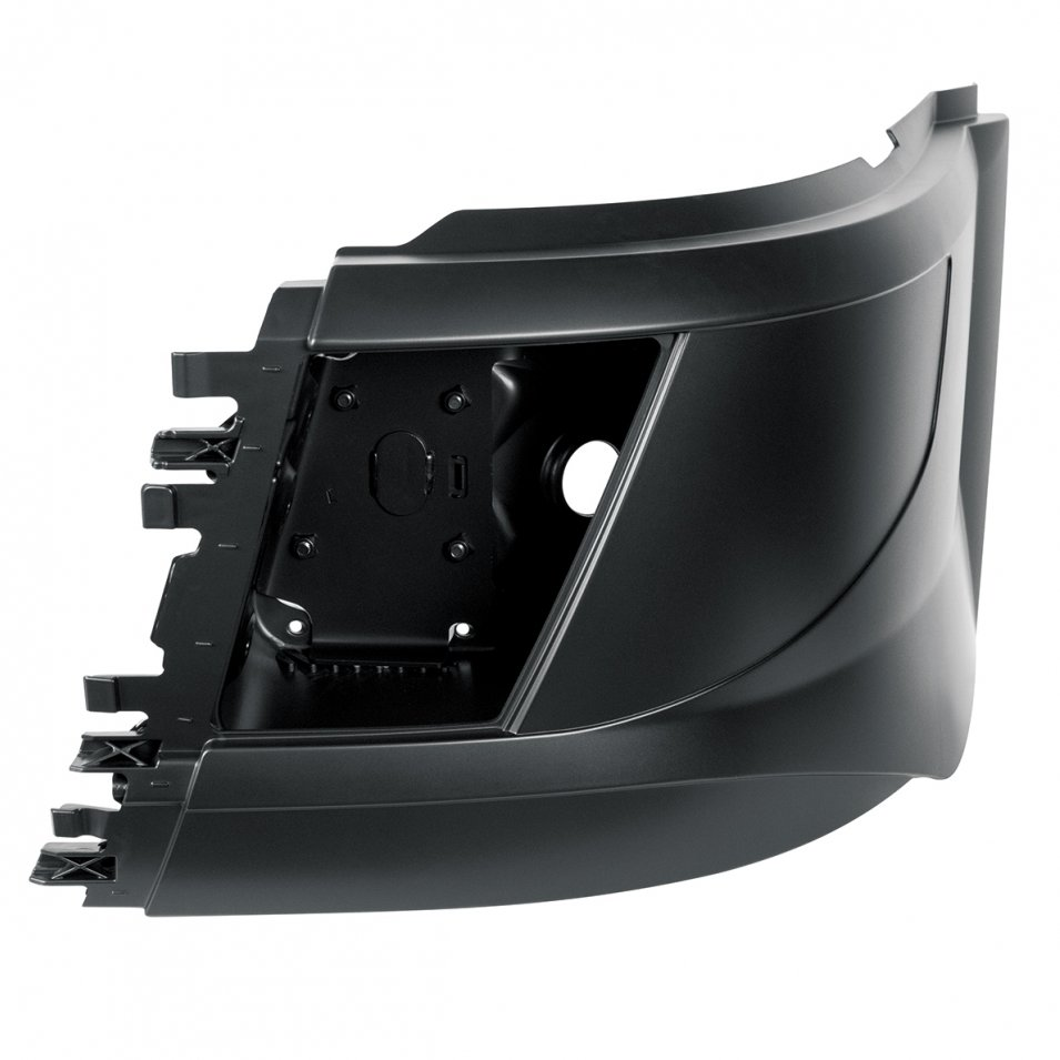 Bumper End - Screw Mount With Fog Light Cut Out - Driver for 2015 Volvo VN / VNL