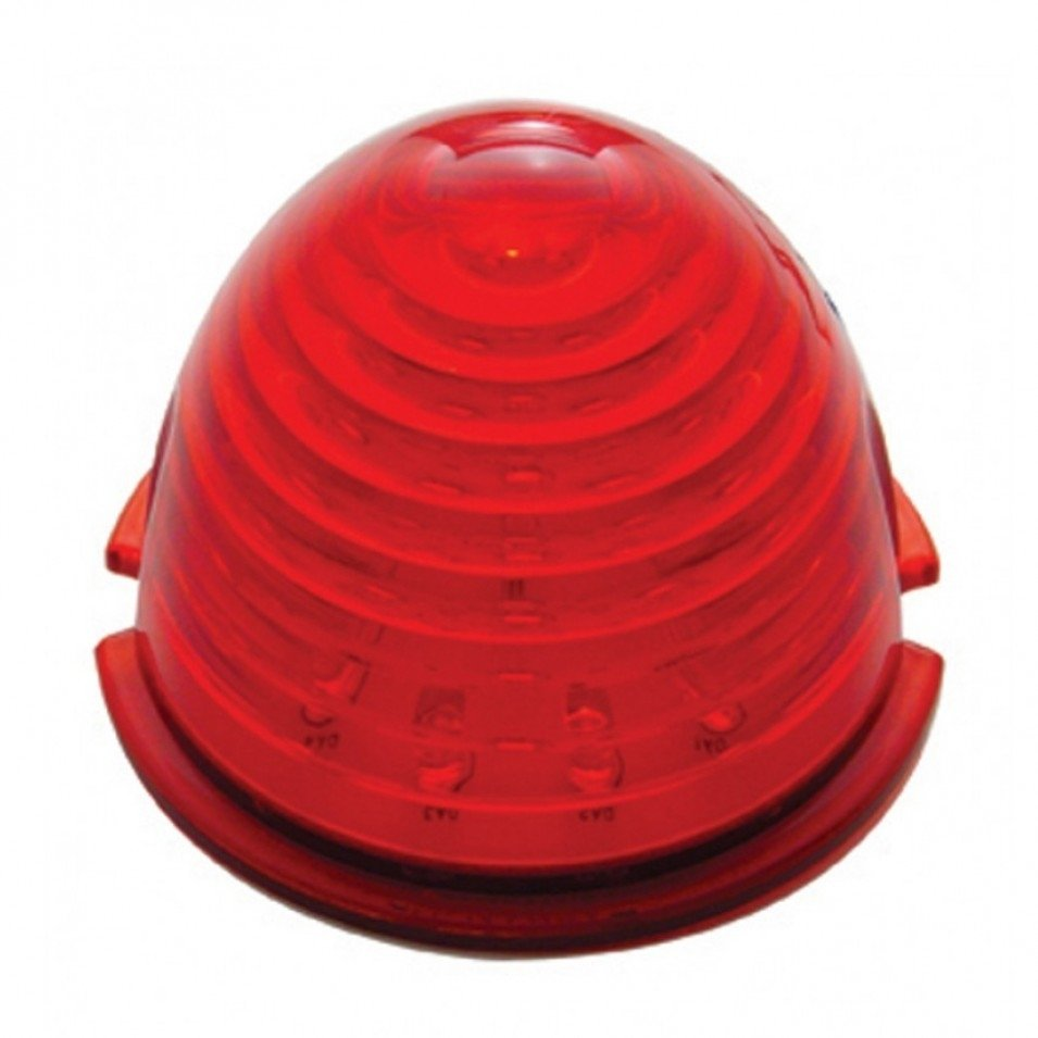 17 LED Beehive Cab Light - Red LED/Red Lens