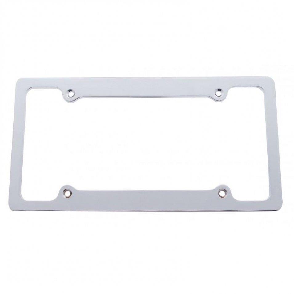 Chrome Aluminum Billet License Plate Frame