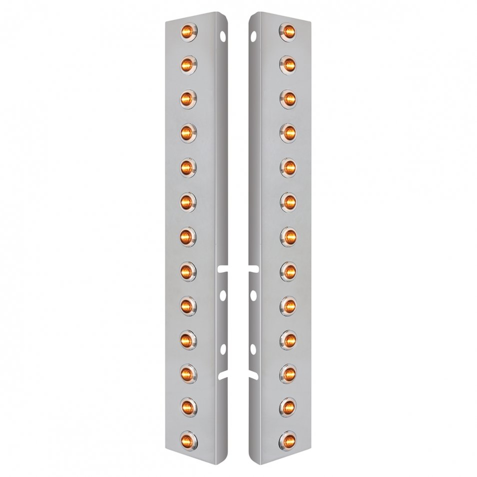 Front Air Cleaner Mini LED Clear Lens Light Panels for Peterbilt