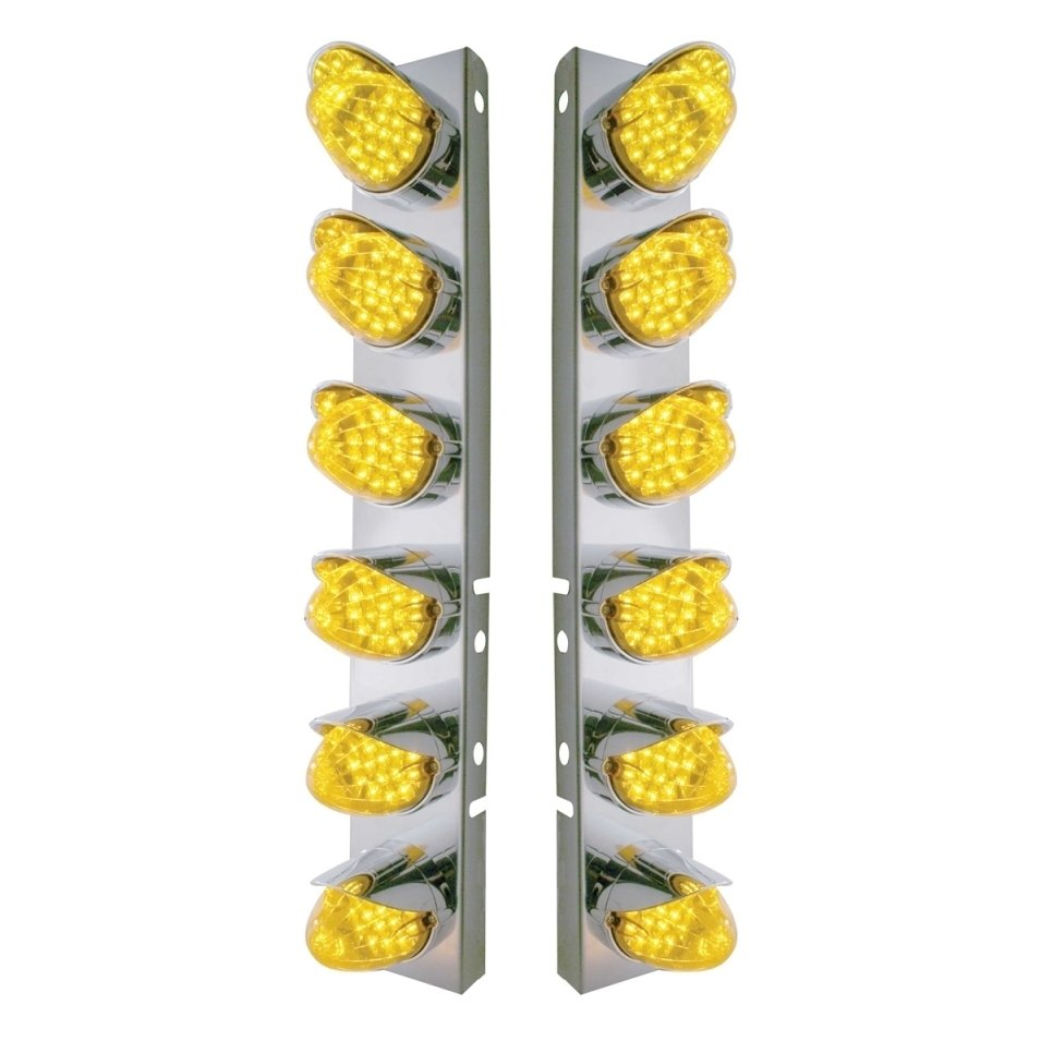 Front Air Cleaner Reflector LED Panels for Peterbilt