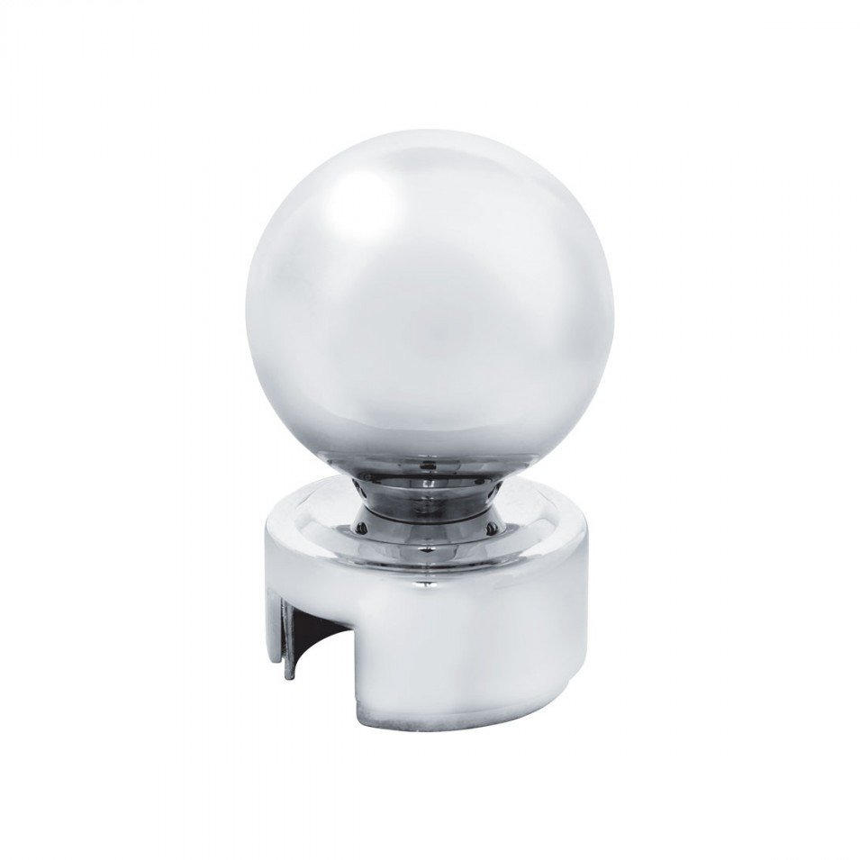 Chrome Ball 13/15/18 Speed Gearshift Knob w/ Adapter