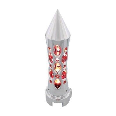 Spike Gearshift Speed Knob Daytona, 13/15/18 Speed, Chrome, Vertical - Red LED