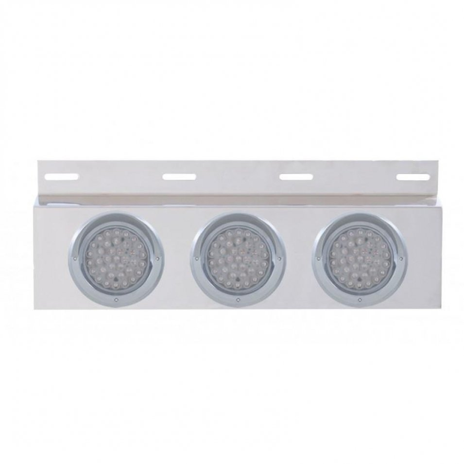 Stainless Mud Flap Plate Three 36 LED 4