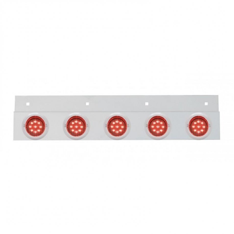 Stainless Top Mud Flap Plate Five 9 LED 2