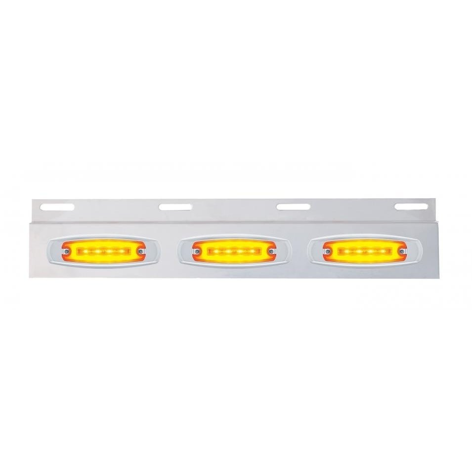 Top Mud Flap Plate w/ Three 16 LED