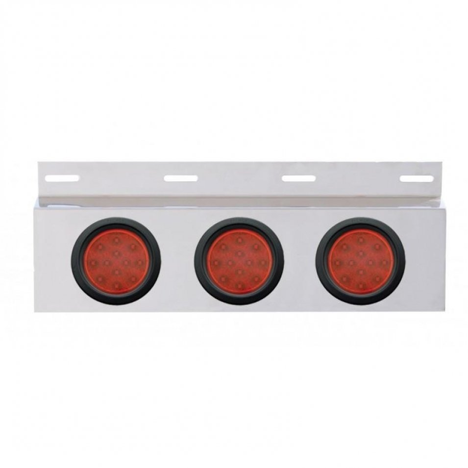 Stainless Mud Flap Plate Three 12 LED 4