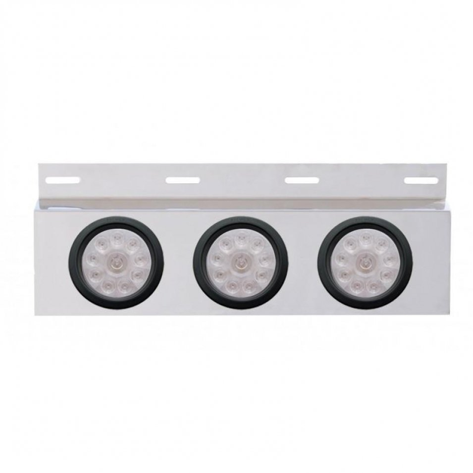 Stainless Mud Flap Plate Three 10 LED 4