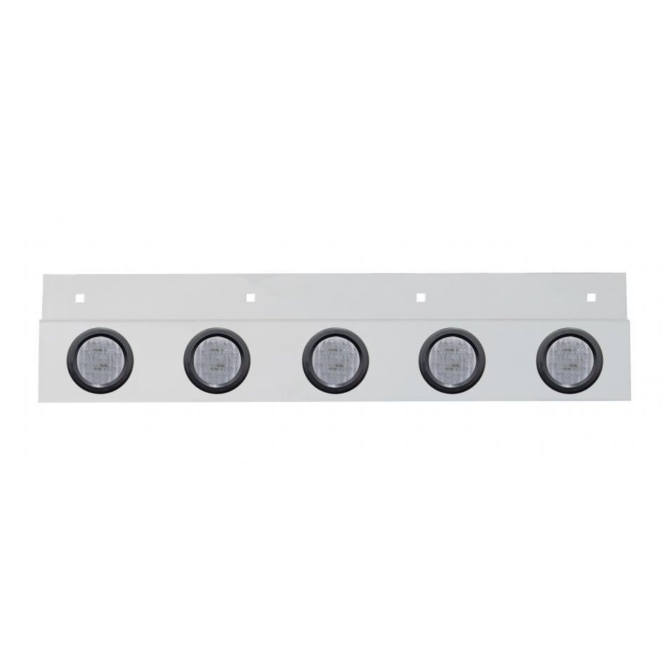 Stainless Mud Flap Plate Five 9 LED 2
