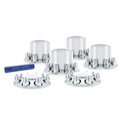 Chrome Plastic Axle Cover Kit