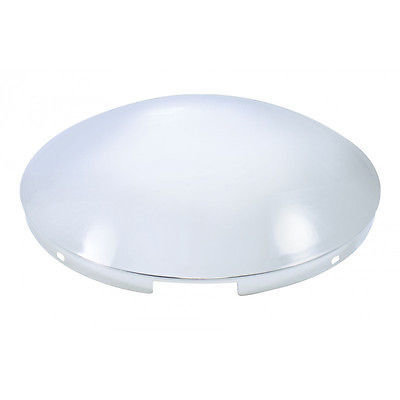 4 Even Notched Front Hub Cap Cover, Stainless Steel - 7/16