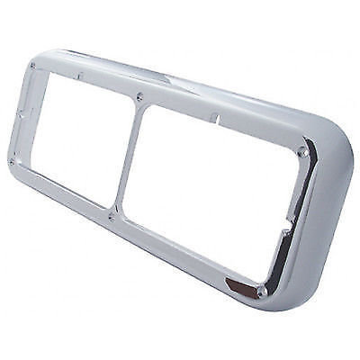 Dual Rectangular Chrome Headlight Bezel